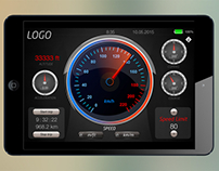 Speedometer iOS app (iPad)