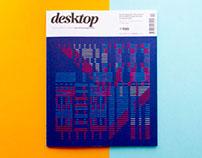 Stitched magazine cover
