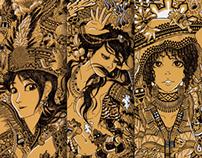 Doodle Illustration: Native Ladies