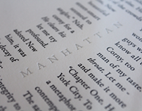 """Manhattan"" Letterpress Print"