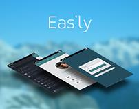 Eas'ly app iOS 7 Concept