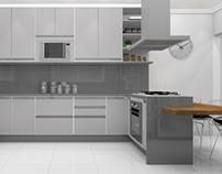 3D - Cozinha/Kitchen