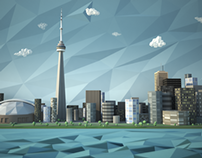 Toronto Skyline Lo Poly