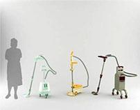 Senior friendly vacuum cleaner