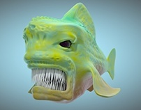 Fish sculpting with cinema 4d