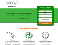 WOW! Research Landing Page Design