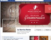 Día de los enamorados /gráfica para Facebook