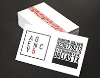 AGENCY5 Business Card Design