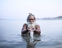 Holy Men of Varanasi, India