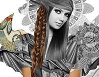 Etno-Fashion Illustration Art Print