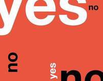 Yes | No {a manual on typography}