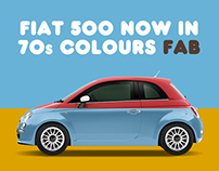 Fiat 500 70s Colours