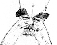 Caricature of Philip Seymour Hoffman