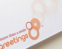 Charity Greetings branding and typography