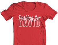"""Dashing for David"" Tshirt Design"