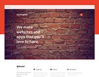 Freebie – my.kingdom one page PSD template