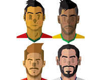 KITMAN world cup soccer football player illustration