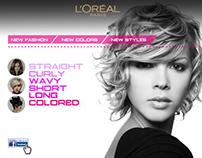 Loreal Paris website concept