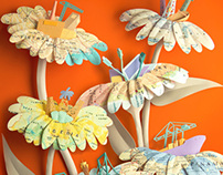 Paper sculpture - Something from Nothing