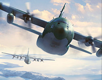 FAB C-130 over Antarctica