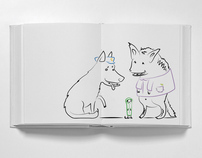 Hyena and Weasel book illustrations