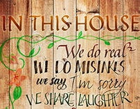 Calligraphy | In this house