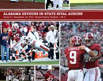 2012 Alabama Football Photographic Recaps