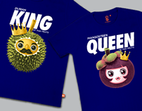 King & Queen of Thai fruits, Couple t-shirt