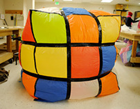 Inflatable Project: Huge Rubik's Cube