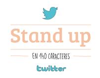 Doble página: stand up en 140 caracteres.