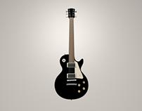 Les Paul Guitar 3D