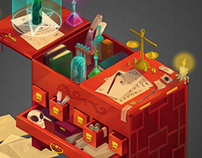 Magical isometric cupboard