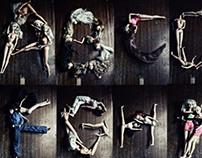 typography series: barbie corpses