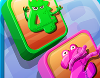 Toddler puzzle game - UI, assets and backgrounds.