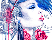Rimmel London / Illustrated Advertisement