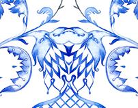 Gzhel. Textile Design