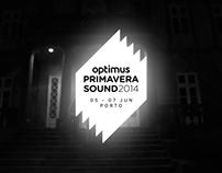 Optimus Primavera Sound Lineup 2014