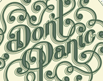 """""""Don't Panic"""" Hand Lettering"""
