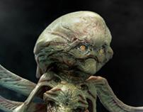 Un-used alien design for Falling Skies season 2.