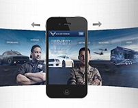 """U.S. Air Force """"Project: Supercar"""" Mobile Site"""