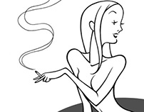 Smoker Chick (soon-to-be engraving)