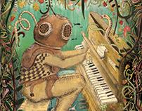 Buzo en la pianola