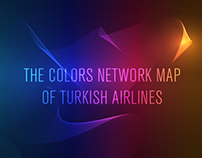 The Colors Network Map of Turkish Airlines