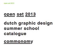 OPEN SET WORKSHOP 2013