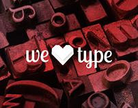 we love type