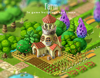 Farm: In game buildings and items
