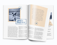 InDesign magazine/brochure template