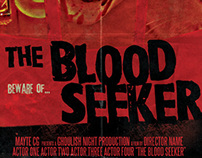 The Blood Seker 70's style Horror Poster Template