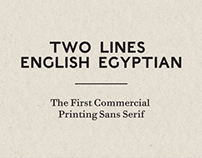 Two Lines English Egyptian Digital Revival