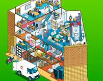 1st Byte Online Virtual Building Tour Illustration